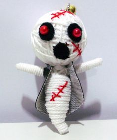 Scary ghost String Doll KeyChain voodoo