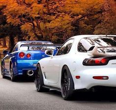 Mazda RX-7 and Nissan Skyline R-34