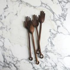 Salad spoons. I have such a crush on Ariele Alasko. Almost $500 for a girl who doesn't make salads would be a bit much, if it were even remotely possible to snag her stuff before it sells out in a nanosecond. I just love to stare at these beauties.