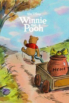 Disney Revival Era concept art as posters: Winnie the Pooh Cute Winnie The Pooh, Winne The Pooh, Vintage Disney Posters, Vintage Cartoon, Pooh Bear, Tigger, Eeyore, Cute Disney, Disney Art