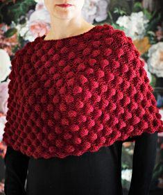 Pompom-poncho, Kotliliesi.fi Chrochet, Knit Crochet, Handicraft, Knitting, Pattern, Sweaters, Handmade, Knits, Fashion