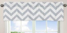 Curtain style - do full length curtain in chevron pattern in grey and white colours