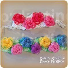 Rainbow Loom flower bracelet