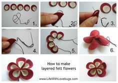 how to make felt flowers - Google Search
