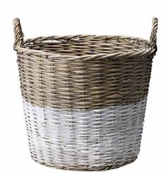 Mand Verfdip Wit  leuk om met mijn bol mand te doen, meer van deze tijd. misschien ook met andere manden? voor organiseren onder de trap?