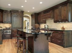 Paint Colors For Kitchens With Dark Cabinets | Dark Cabinet Kitchen, Dark  Kitchen Cabinets And Kitchen Paint Colors