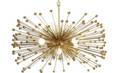 Beaded Urchin Chandelier Lighting with Five Lights by Stimulight, $529.00