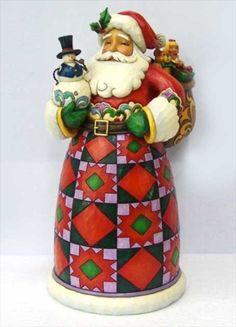 Spreading Joy- Santa Holding Snowman