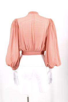 Sleeve Types, Types Of Sleeves, Blouse Vintage, Vintage Tops, Silk Chiffon, Chiffon Tops, 1930s Style, 1930s Fashion, Edwardian Era
