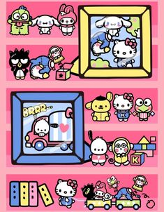 from Hello Kitty Collage Hello Kitty Backgrounds, Hello Kitty Wallpaper, Cute Cartoon Characters, Sanrio Characters, Kitty Cam, Hello Kitty Imagenes, Hello Kitty Halloween, Sanrio Danshi, Hello Kitty My Melody