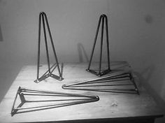 Set of 4 Hairpin Table Legs Vintage, Industrial, Mid-Century FROM £6 PER LEG!