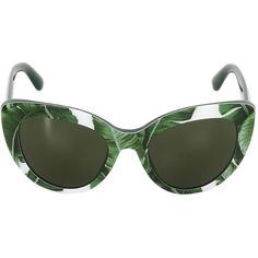 Dolce & Gabbana Women Printed Acetate Cat-eye Sunglasses (€260) ❤ liked on Polyvore featuring accessories, eyewear, sunglasses, glasses, dolce gabbana eyewear, cat-eye glasses, square lens sunglasses, green lens glasses and square cat eye sunglasses