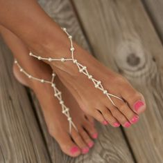 Beautiful Barefoot Sandals, Foot Jewelry, Wedding Sandals for ...