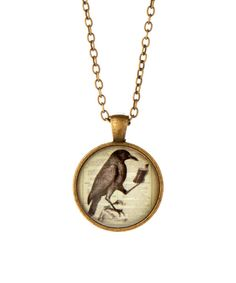 Look at this Black Crow Pendant Necklace on #zulily today!