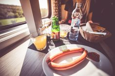 Quick Travel Morning Breakfast in Train Free Stock Photo Download | picjumbo