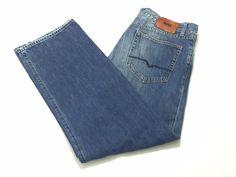 Hugo Boss 36x32 HB67 Comfort Fit Men's Cotton Blue Jeans #HUGOBOSS #ClassicStraightLeg