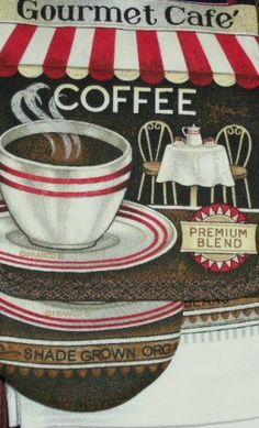 Coffee Themed kitchen wallpaper border Magazines24