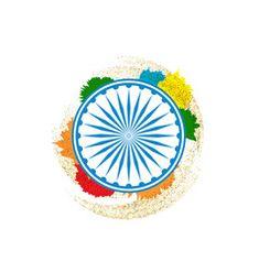 Tricolor indian flag map background for republic Vector Image Chakras, Indian Flag, Map Background, Flag Photo, Vector Art, Adobe Illustrator, Web Design, Symbols, Creative