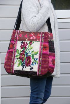 Bag/ Tote/ Large bag with flowers by dutchsisters on Etsy