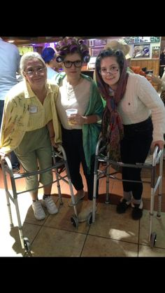 Grandma costume (halloween college zombie)
