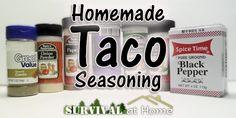 Homemade Taco Seasoning Recipe!