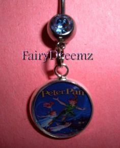 PETER PAN Disney Resin Charm Vintage Movie Cover by FairyDreemz, $9.00