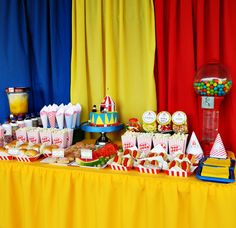 Circus Party Dessert Table