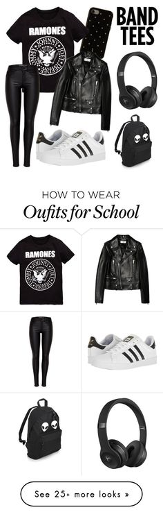 """""""Rock & Roll. """" by specialchangge on Polyvore featuring adidas, Kate Spade, Beats by Dr. Dre and Yves Saint Laurent"""