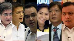 Are 2016 VP bets truthful about academic degrees? Rappler looks at the academic degrees listed in the public profiles of the 6 candidates for vice president to check if these are accurate or if the claims have been corrected