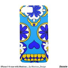 iPhone 7 8 case with Mexican skull