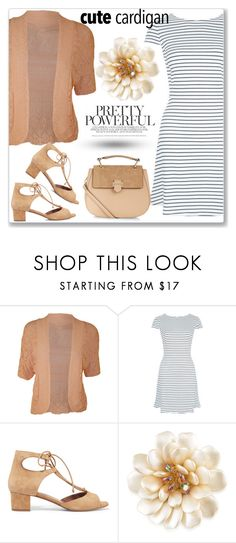 """""""Cute Spring Cardis"""" by andrejae ❤ liked on Polyvore featuring WearAll, New Look, Tabitha Simmons, Carolee, Accessorize, cutecardigan and springlayers"""
