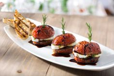 Seasons 52 is a wine bar & grill that offers fresh, seasonal restaurant dishes served in a casual and sophisticated atmosphere. Seasons 52, Restaurant Dishes, Our Daily Bread, Basil Pesto, Bar Grill, Fresh Mozzarella, Roasted Tomatoes, Salmon Burgers, Family Meals