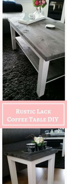 weathered gray wood top hemnes coffee table...ikea hack this is ...