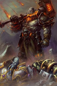 Blackhand by Mordred Lu World Of Warcraft Game, World Of Warcraft Characters, Fantasy Characters, Warhammer Ogre, World Of Warcraft Wallpaper, Blizzard Warcraft, Lilies Drawing, Orc Warrior, Monsters