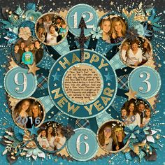 Credits: Cindy's Layered Templates - Get Festive: New Year's by Cindy Schneider Get Festive: New Year's by Kristin Cronin-Barrow & Digital Scrapbook Ingredients Layout by Kjersti Sudweeks 12x12 Layout Digscrap Sweetshoppe Designs New Year's Eve Layout