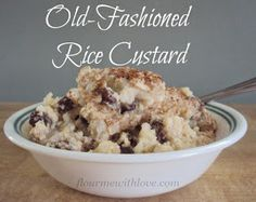 Old Fashioned Rice Custard