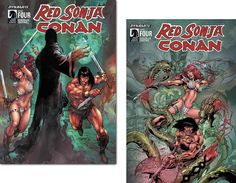 This colorized cover is a special issue 4 of the Red Sonja and Conan! Pencil by Ed Benes and Roberto Castro! Dynamite and Dark Horse!!!!!