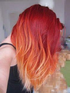Red/orange ombre