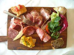 Italian antipasti from Maremma Tuscany Italy where eating good food is part of everyday life - la dolce vita