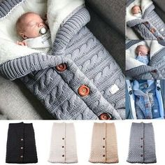 Details about Newborn Infant Baby Swaddle Knit Footmuff Sleeping Bag Warm  Stroller Blanket 4cad917e1