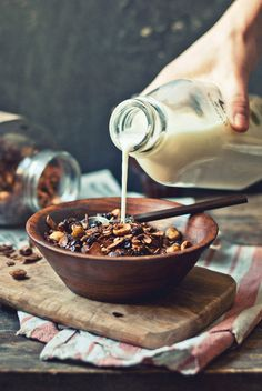 Cocoa Hazelnut Granola with Sour Cherries | The Gouda Life