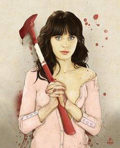 """Awesome art prints: """"Slaughterhouse Starlets"""" by Keith P. Rein zooey deschanel"""