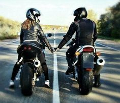 love, couple, and motorcycle Bild