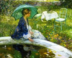 ~Richard E. Miller ~ American Impressionist artist, 1875-1943