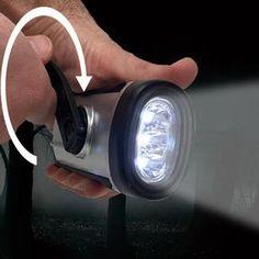HAYLO® Solar/Crank LED Flashlight Survival Gadgets, Emergency Power, Led Lantern, Solar Led, Led Flashlight, Bulb, Lights, Onions, Lighting