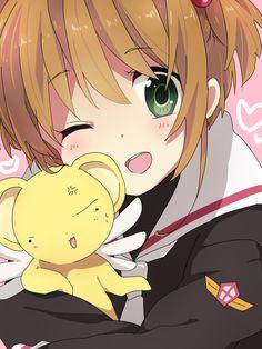 Cardcaptor Sakura | CLAMP | Madhouse / Kinomoto Sakura and Keroberos (Kero-chan) / 「さくら」/「葉歩亜」のイラスト [pixiv]