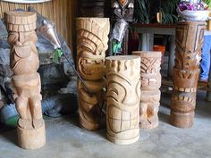 Read more: Tiki decor motherlode: Oceanic Arts -- established in 1956 - Retro Renovation carved-tiki-statues-Oceanic-Arts MADE IN THE USA!!