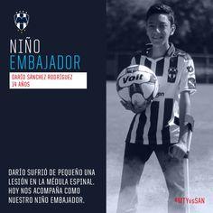El Niño Embajador de #Rayados hoy es Darío Sánchez, quien de pequeño sufrió lesión de médula espinal. #ESR #AbrazadosporElFutbol