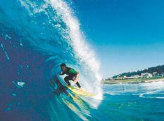 Surfing, beautiful.