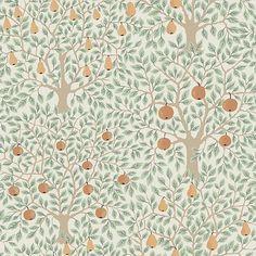 Pomona - 33011 - Familjetapeter Plant Wallpaper, Wallpaper Paste, Wallpaper Roll, Bathroom Wallpaper, Brewster Wallpaper, Wallpaper Warehouse, Blue Fruits, Boutique Deco, Inviting Home